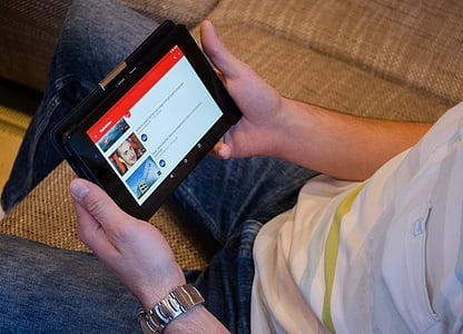 YouTube, comprimit, Notícies, App, ordinador, connexió, Internet