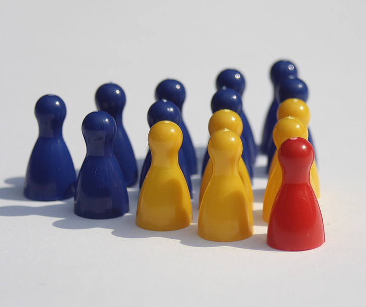 hierarchy, group, figures, play stone, placed, world of work, chef