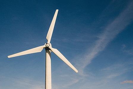 energia, medi ambient, Perspectiva, energies renovables, cel, Molí de vent, turbina