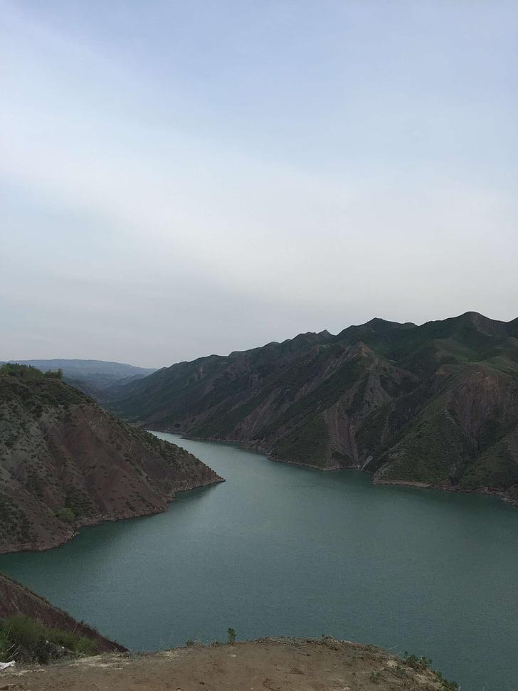 the scenery, mountains, lake, nature, mountain, landscape, scenics