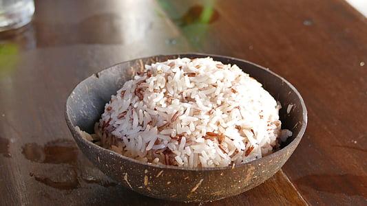 gạo, dừa, ăn, vỏ, dinh dưỡng, khỏe mạnh, ăn chay