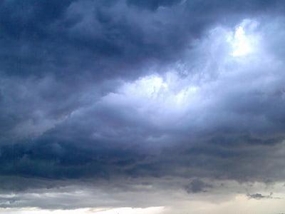 ท้องฟ้า, เมฆ, สีฟ้า, ระบบคลาวด์, พายุฝนฟ้าคะนอง, เมฆพายุ, ท้องฟ้ามืดมิด