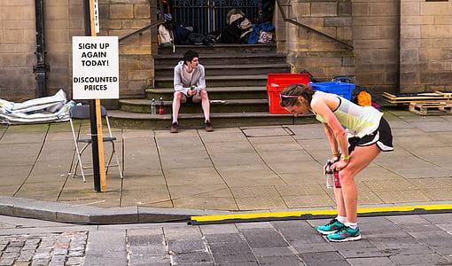 Marató, corredor, gimnàs, executar, Sa, atleta, exercici