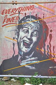 Berlin, Street art, graffiti, homlokzat, falfestmény, spray, városi spree