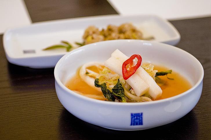 kimchi, korejski, tradicionalna jela, vrućine teške baek kimchi, spoj korejske, blagovaonica, tradicionalni
