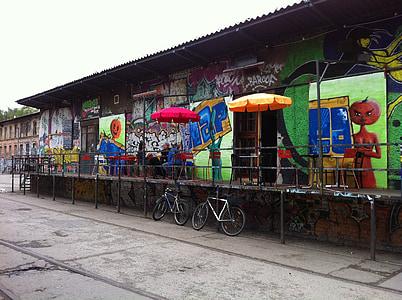 Berlin, graffiti, Street art, Art, művész, falfestmény, festő