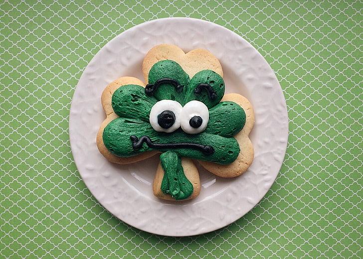 St. Patricks day, Urlaub, Klee, Cookie, St. Patricks day, tierische Darstellung, grüne Farbe
