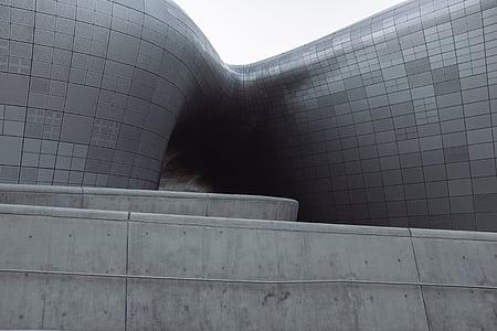 architecture, building, infrastructure, design, gray, concrete