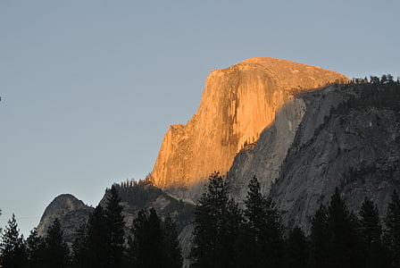 yosemite, half dome, sunset, national park, landscape, california, usa