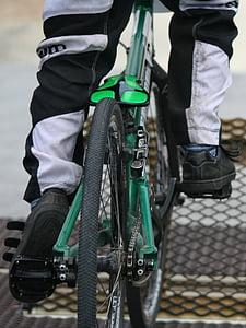 BMX, sacensības, vārti, pedālis, ātri, sportists, Sports