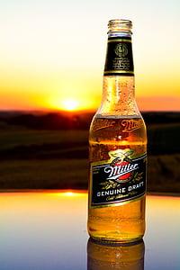 pivo, zalazak sunca, Sol, Horizont, priroda, nebo, krajolik