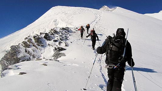 mountaineering, mountain, climbing, alps, nature, spot climbing, summit