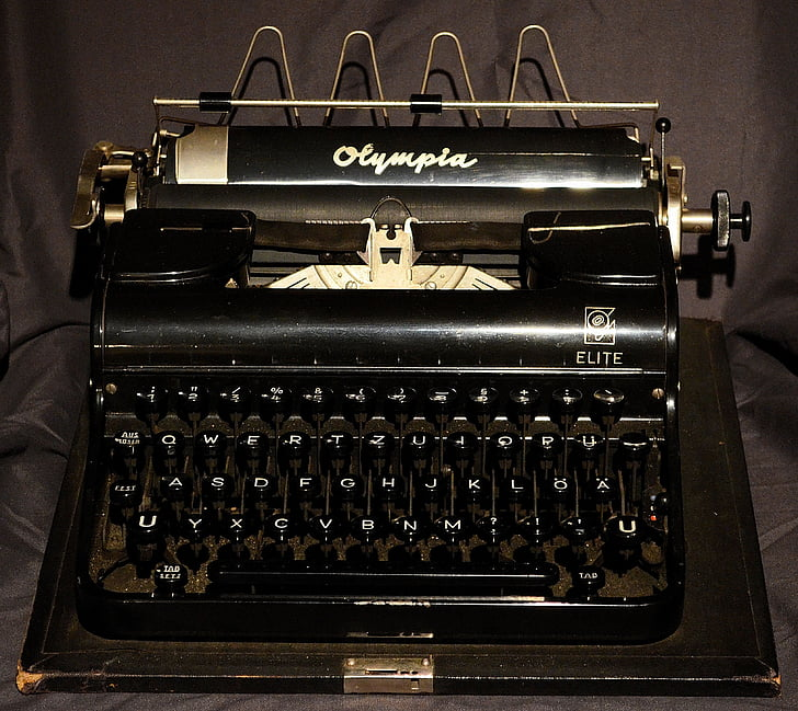 typewriter, antique, old, old typewriter, letters, historically, retro