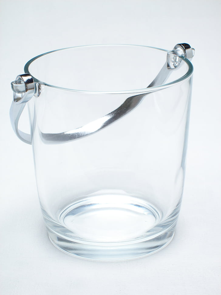 cooler, glass, about, background, white