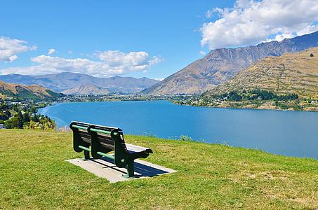 Pink, Lake, maastik, vee, mägi, loodus, Uus-Meremaa