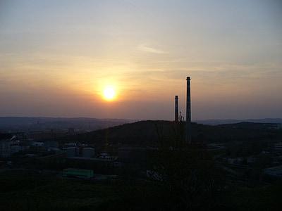 dawn, sun, sunset, sky