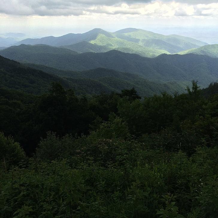 black mountains north carolina, mountain landscape, mountain range, forest, trees, landscape, outdoor