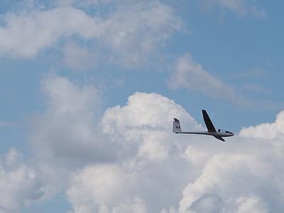 planador, avió, aire, volant, Mt búfal, Puig, volant alt