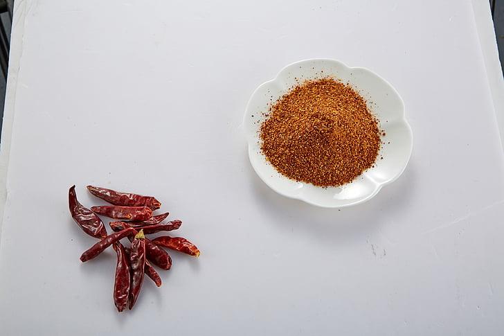 pebrot vermell, pols de Chile, condiment
