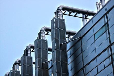 London, tööstus, hoone, Suurbritannia, disain, äri, tehase