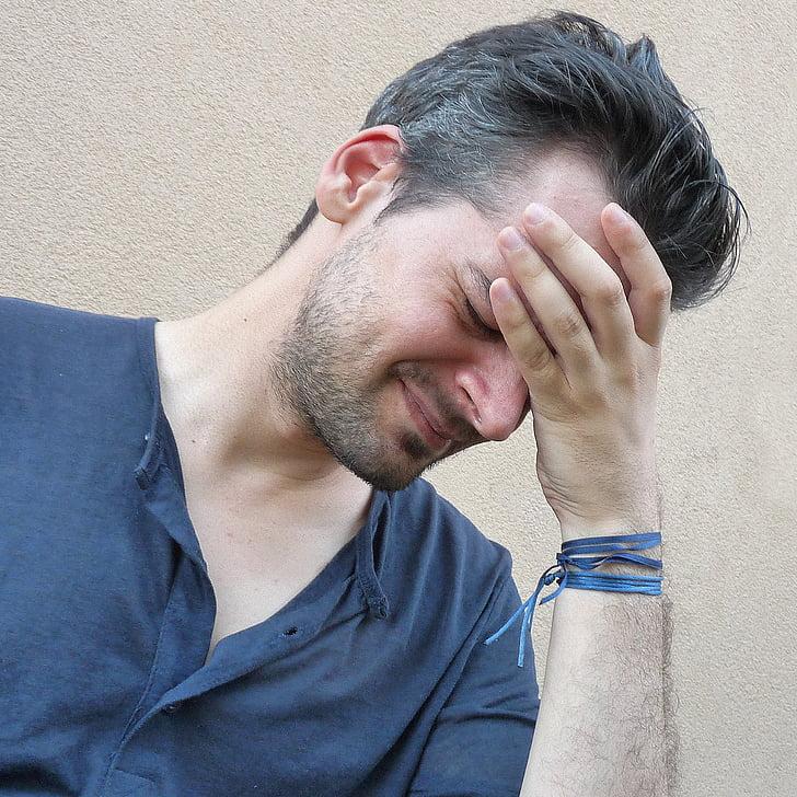 headache, image, man, stress, stressed man, person, portrait