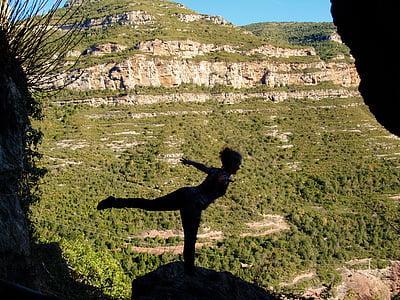 jeune fille, Yoga, en bonne santé, jeune, femelle, remise en forme, mode de vie