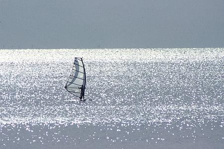 Yuigahama gao hama, shonan jūra, jūros žiemą, Buriavimas, jūra, Sportas, mėlyna