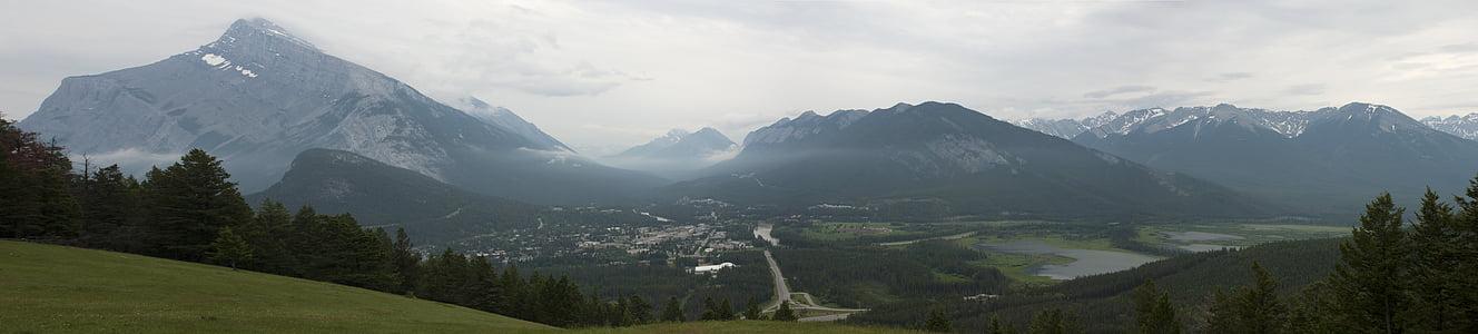Canadà, paisatge, muntanyes, natura, panoràmica, plujós, Muntanyes Rocalloses