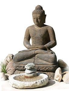 Buddha, meditáció, csend, Stille, mitikus, kikapcsolódás, felvilágosodás