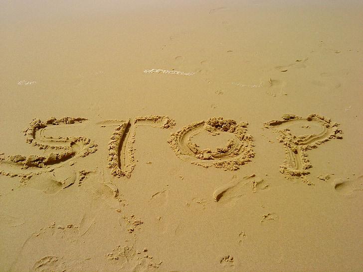 smilts, apstājieties, pauze, pārējie, brīvdiena, pludmale