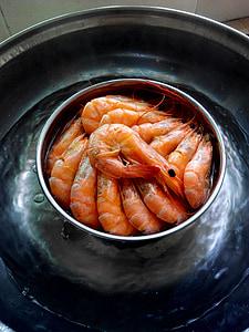 gamberetti, cibo, cucina, frutti di mare