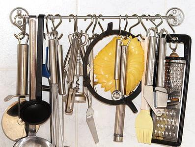 aparells de cuina, ganxo, barra, Estris de cuina