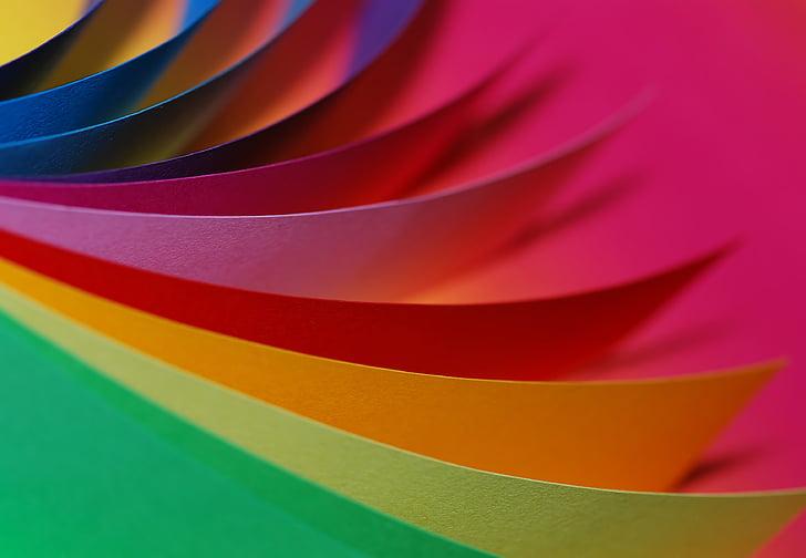 едър план, цветни, цветове, цветни, цветове, макрос, хартия
