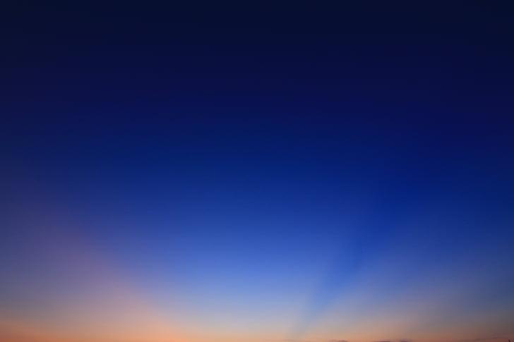 το απογευματινό ήλιο, Λυκόφως, Οι ακτίνες, ηλιοβασίλεμα, ουρανός, λάμψη, φως