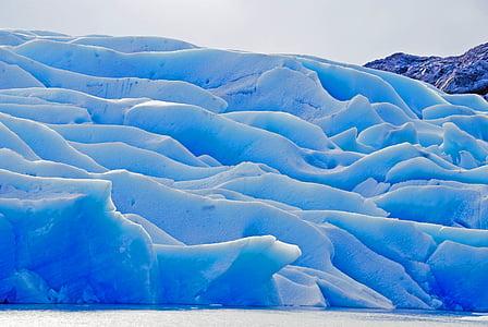 glacier, ice, nature, chile, trekking, snow, frozen
