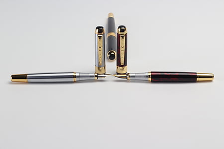 bolígrafos, Oficina, muchos, bolígrafo, fuente, tinta, instrumento de escritura