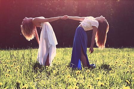 nenes, lesbianes, millors amics, amants, femella, senyores, dones
