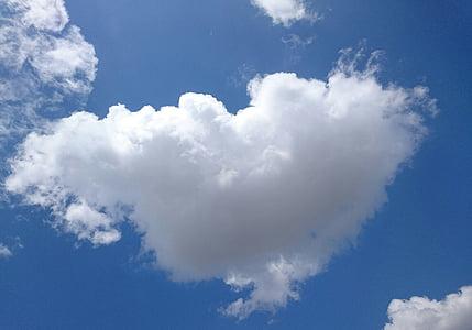 bầu trời, đám mây, đám mây, màu xanh, Các hình thức của các đám mây, cảnh quan, trắng