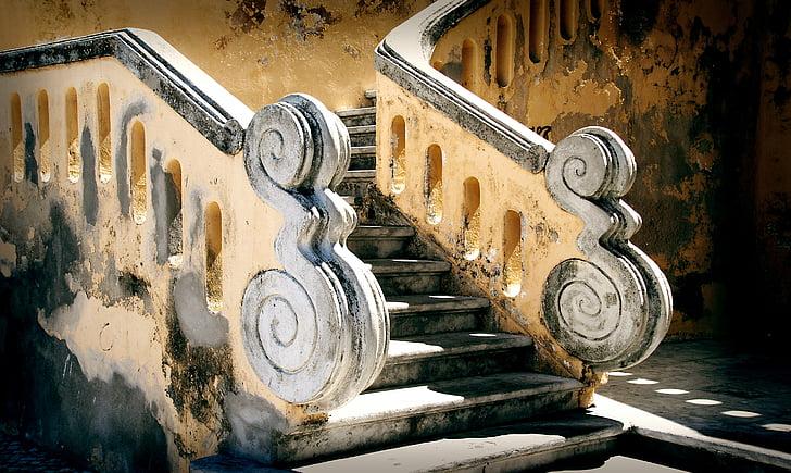 stopnice, baročni, jugu Francije, Provansa, sredozemski, arhitektura, Francija