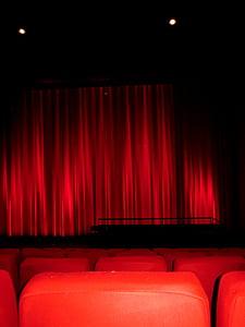 cinema, cinema seating, movie, cinema hall, red, black, going out