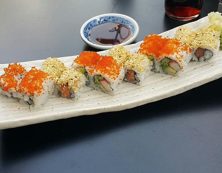 sushi, aliments, tradició, tradicional, rotllo, marisc, àpat