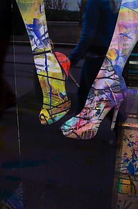 fun, shoes, legs, high heels, painting, art, creative