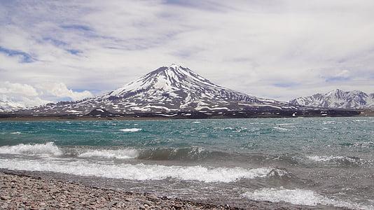 volcà maipo, llacuna diamant, Mendoza, Argentina, muntanya, natura, neu