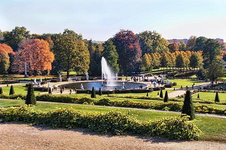Park, suihkulähde, sanssouci-puiston, Potsdam, Puutarha, puut, Luonto