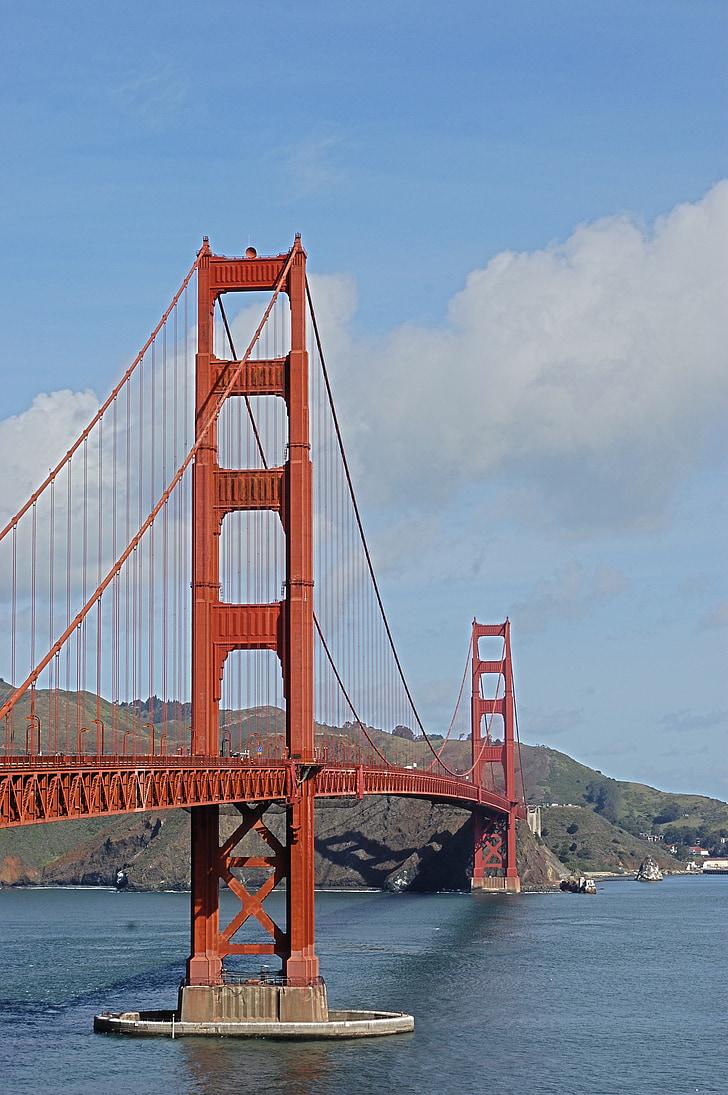 Bridge, Yhdysvallat, San francisco, rakenne, Golden gate-silta, San Francisco County, California