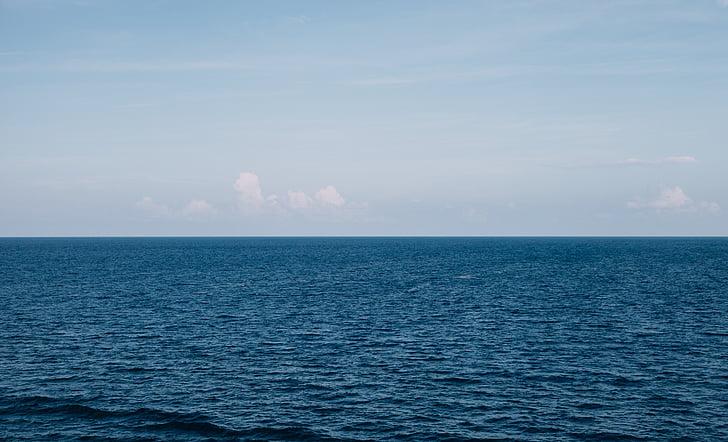 beach, horizon, nature, ocean, sea, seascape, sky