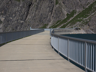 luenersee, barragem, Embora, estrada, reservatório, brandnertal, Vorarlberg