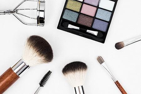 кисті для макіяжу, складають, пензель, Косметика, макіяж, застосування, тіні