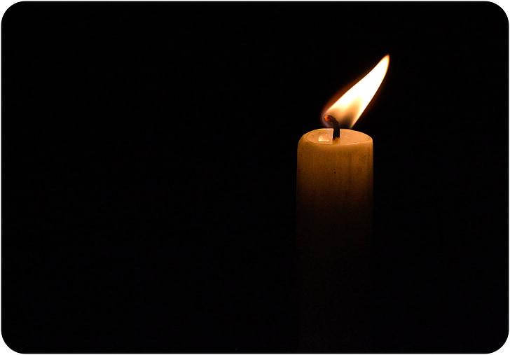 stearinlys, flamme, levende lys, lys, brenning, tro, natt