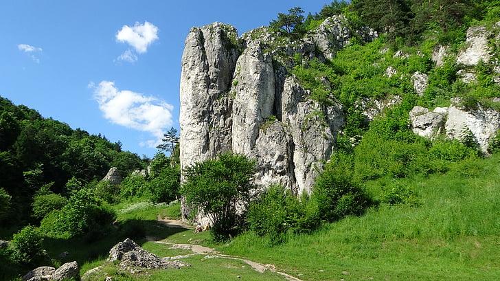 Rocks, landskap, Polen, naturen, turism, Mountain, Rock - objekt
